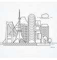 linear tokyo japan flat one line vector image vector image