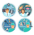 medical doctor icon for hospital personnel design vector image vector image