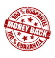 money back guarantee stamp vector image vector image
