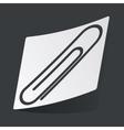 Monochrome paperclip sticker vector image vector image