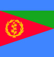 national flag of eritrea vector image