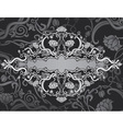 ornate back vector image vector image