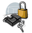 padlocks with keys vector image