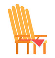picnic armchair icon flat isolated vector image vector image