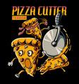 pizza cutter terror vector image vector image