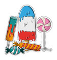 popsicle and candies vector image