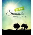 Poster summer theme healthy life style vector image