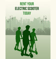 rent your electric scooter poster for electric vector image