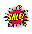 sale shopping comic text speech bubble isolated vector image vector image
