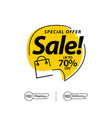 sale up to 70 special offer template design vector image vector image