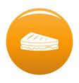 sandwich icon orange vector image