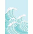 sea waves in sea green shades background image vector image vector image