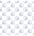 seamless maritime pattern with ship line style vector image vector image