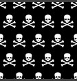 seamless pattern with skull and bones vector image vector image