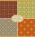 seamlessly tiling retro patterns vector image vector image