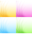 set abstract colorful light backgrounds vector image