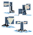 set of lighthouse icons vector image vector image