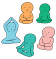 set of meditation vector image vector image