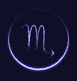 shiny astrological symbol of scorpio vector image