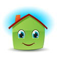 smiling house vector image