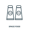 space food icon flat style icon design ui vector image vector image