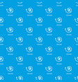 spiral graph pattern seamless blue vector image vector image