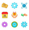 subscriber interface icons set cartoon style vector image vector image