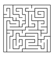 Thin Line Style Maze on White Background vector image vector image