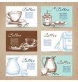 Vintage coffee cards banners set vector image vector image