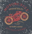 vintage motorcycle design for tee shirt graphic vector image vector image