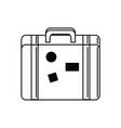 vintage suitcase vacation travel icon vector image