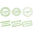 Vitamin K stamps vector image vector image