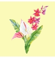 Watercolor tropical composition vector image vector image