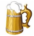 Wooden beer mug No mash no gradient vector image vector image