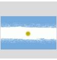 Grunge National Argentinean Flag vector image