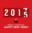 2015 New Year Card Odometer Style vector image vector image