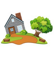 a stone house in nature vector image vector image