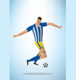 abstract football player in vector image vector image