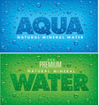 aqua mineral water background with drops vector image vector image