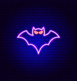bat neon sign vector image