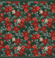 beautiful christmas seamless pattern with vector image