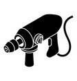 big corded drill icon simple style vector image vector image