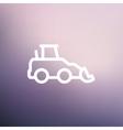 Car dumper thin line icon vector image vector image