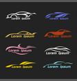car icon modern automotive logo automobile vector image vector image