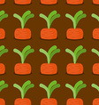 Carrot seamless pattern Plantation carrots vector image vector image