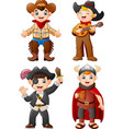 cartoon kids wearing a different costume vector image