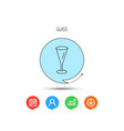 champagne glass icon goblet sign vector image vector image