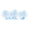 christmas with forest vector image vector image