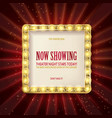 cinema golden square frame vector image
