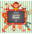 Circus Funfair and Carnival vector image vector image